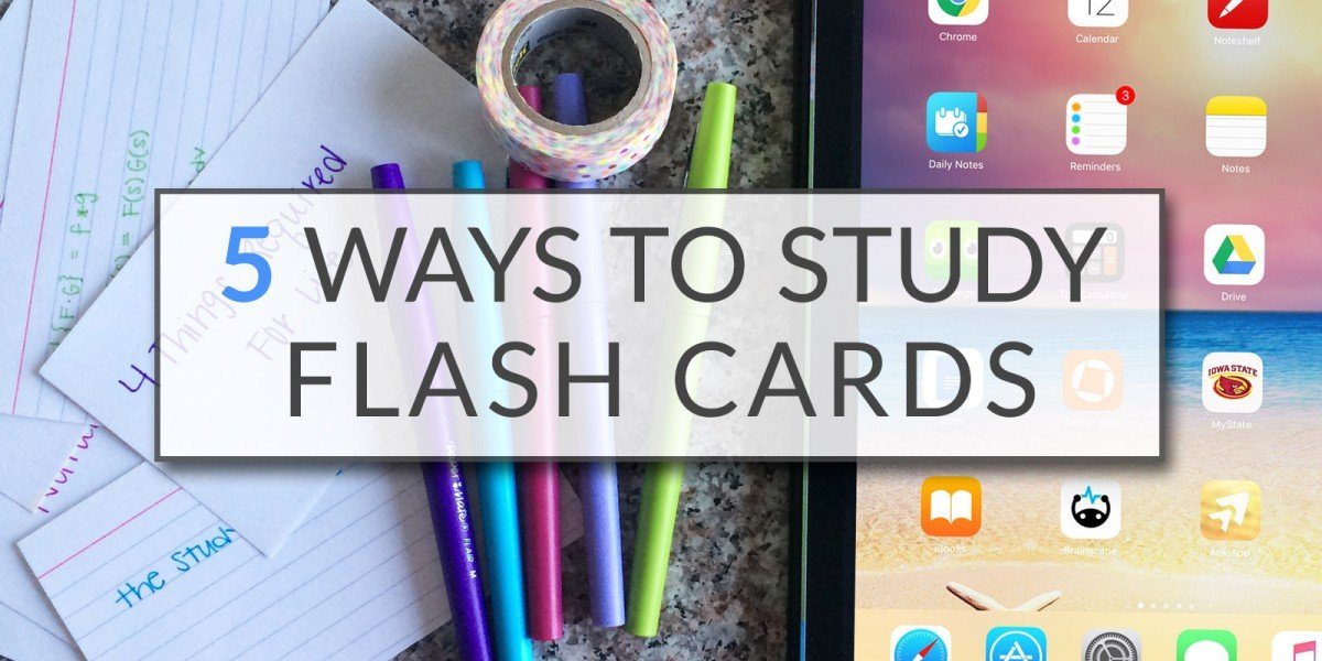 5 Ways To Study Flash Cards | College Tips | Hayle Olson | www.hayleolson.com
