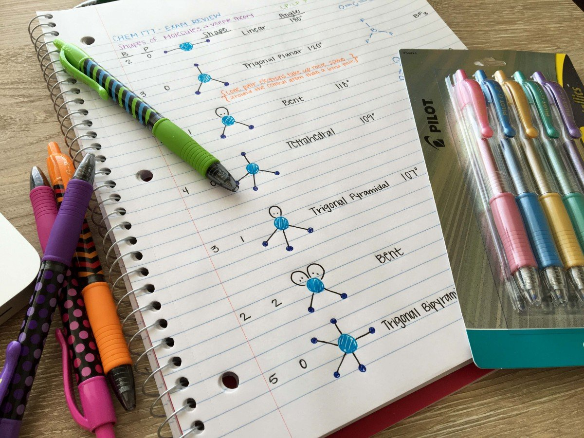 The Perfect Pens for a College Student | Hayle Olson | www.hayleolson.com
