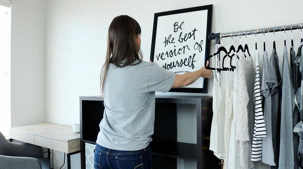 Organized Dorm Space | Small Dorm Room | Hayle Olson | www.hayleolson.com