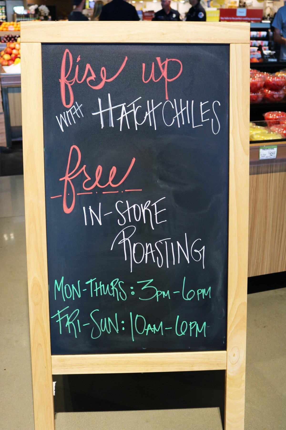 Hatch Chiles at Albertsons on Broadway