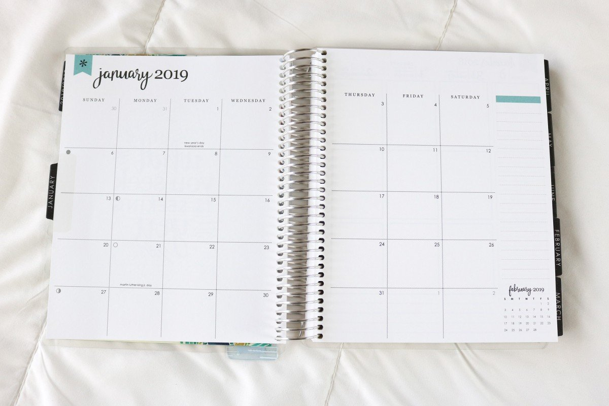 2019 Life Planner Monthly View